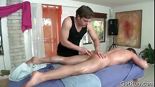 Dude gets massaged and toy fucked 5 part3