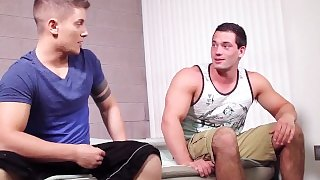 18yo Old SCHOOL Teen WOLF Gets Ass PLOWED By Handsome Hunk!