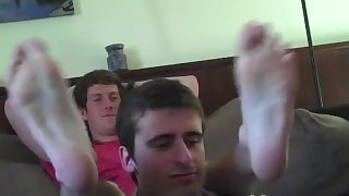 Boys feet tickling8