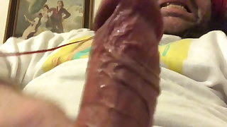 My bodybuilder cock with thick and embossed veins!