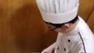 CHINESE CHEF CAUGHT BUSTING A LOAD AFTER COOKING MY FOOD