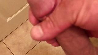 Stoking my big cock