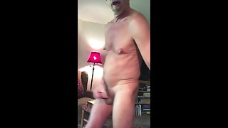 Naked Daddy Gooner Shows off