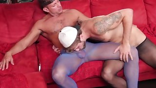 Two Bros Sucking in Tights