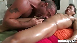 Gay stud eats a cock before he goes for an anal ride on it