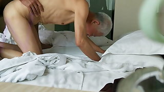 Young Chinese fucks his grandpa friend