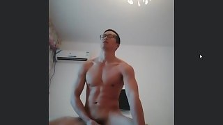 chinese muscle hunk jerk off