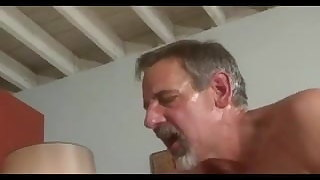 grey BEARD old dad Jay Taylor KISS lick FUCK young guy