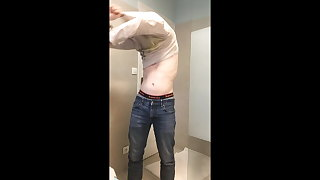 Undressing and jerking off