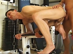 Hardcore Gay Ass Drilling In Gym