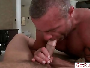 Amazing cock gets amazing blowjob part2
