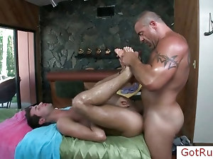 Lucky guy gets fucked by stud