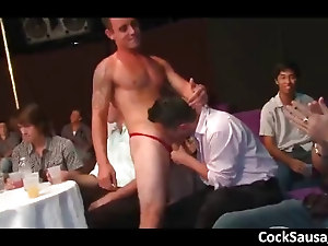 Horny guys go crazy on a cock part1