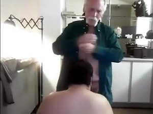 White mustache cigar smoking Grandpa fucks gets dick sucked