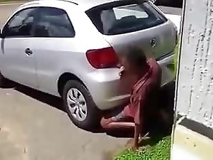 Black man fucks car. (1)