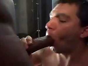 Gay Interracial Bareback Double Penetration