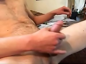 Stud stroking big dick